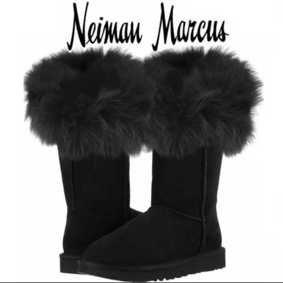 490ac3ee076 Black Fox Fur & Sheepskin ugg* style Boots - 11